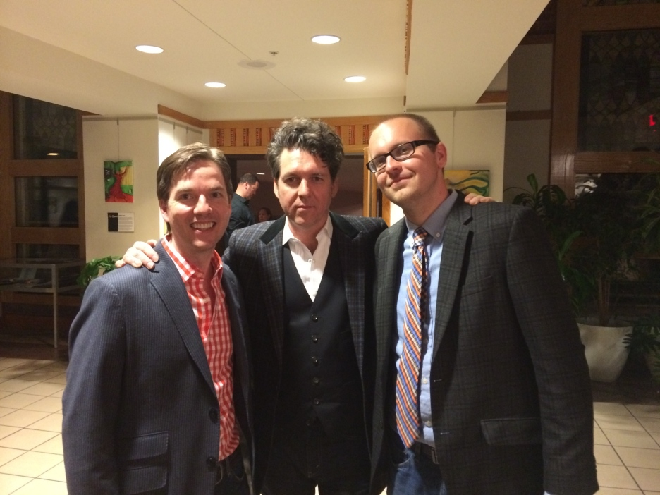 JH with Josh Hurst (right) and me (left) - Durham, NC (April 12, 2014)